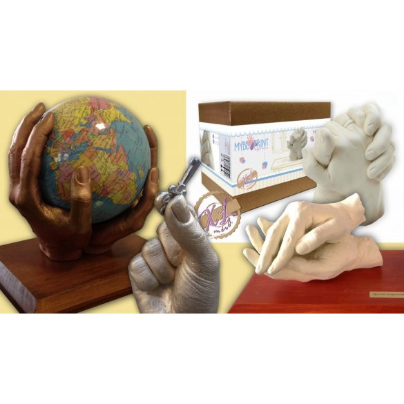 MybbPrint XL felnőtt kézszobor készlet - akár 2 felnőtt kezéhez
