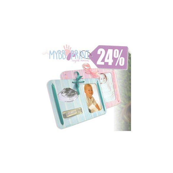 MybbPrint 3 az 1-ben képkeret 2 féle színben - ultrahang kép, fénykép és kórházi karkötő tartó